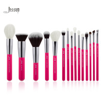 Jessup Rose Carmin Silver Professional Makeup Brushes Set Make Up Brush Tools Kit Foundation Powder Definer