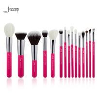 Jessup Rose Carmin Silver Professional Makeup Brushes Set Make Up Brush Tools Kit Foundation Powder Definer