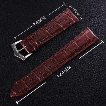 Rayal marrón negro cuero genuino reloj Correa hebilla 18mm 20mm 22mm 24mm banda de repuesto para mecánico relojes de las mujeres de los hombres