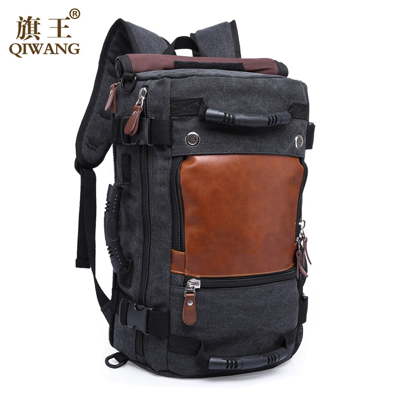 Brand Stylish Travel Backpack For Men Canvas Luggage bag Casual Large Capacity Shoulder Laptop Backpacks Teenagers Travel Bag large capacity men canvas backpack mochila laptop backpack mountaineering versatile bag travel luggage bag