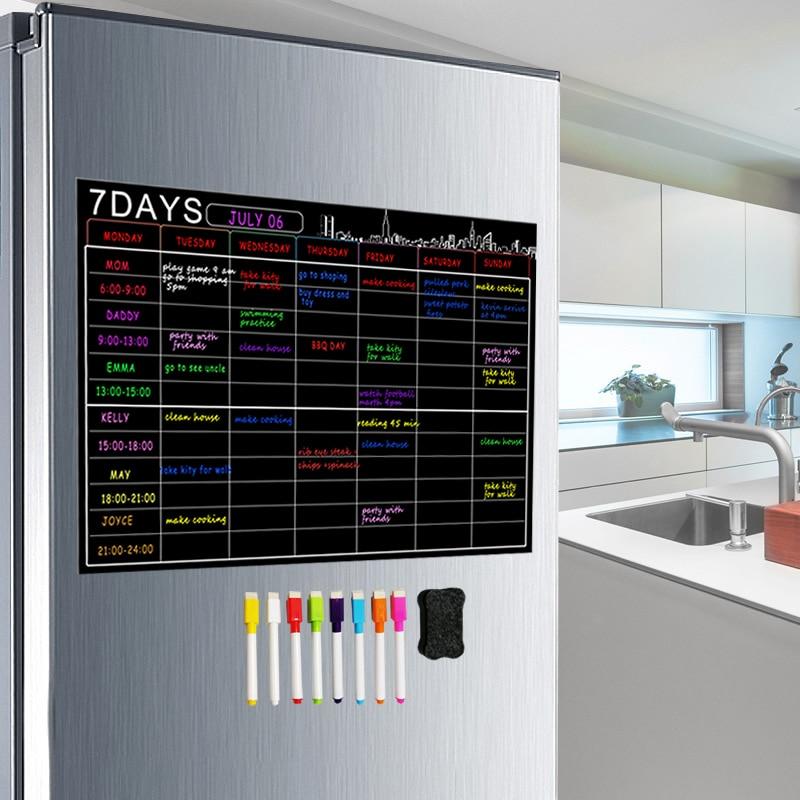 Magnetic Dry Erase Calendar Set 16x12'' Whiteboard Weekly Planner Organizer A3 White Board For Refrigerator Fridge Kitchen Home
