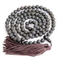 Yeni Arriver 8 MM Siyah Volkan Taş Lava Japa Mala Tibet Budist 108 Namaz Boncuk Bilezik Moda Laday Adam Hediye Takı