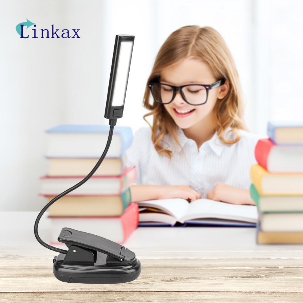 For Kindle Note Book Light Lamp White Color Booklight Led Ebook Light Mini Flexible Clip-on Book Reader Reading Lamp Convenient