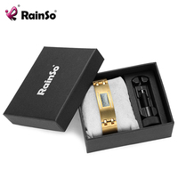 RainSo Men S Magnetic Jewelry Titanium Germanium Tourmaline Hologram Bracelets Bangles Wristband Crystal Carbon Fiber Bracelets