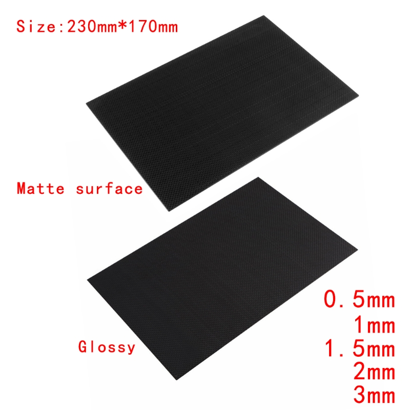3k Carbon Plate Panel  0.5 1 1.5 2  3  Full Carbon Fiber Plate Panel Sheet Plain Twill Weave Glossy Matt Surface #20/12 1sheet matte surface 3k 100% carbon fiber plate sheet 2mm thickness