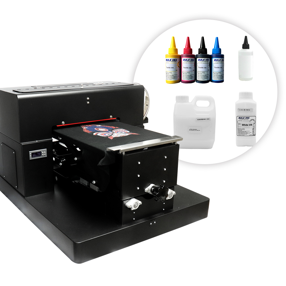A3 Flatbed Printer DTG Printer For T-shirt Printing Machine Print On Light And Dark T Shirt For Cotton Clothes Bags With Ink
