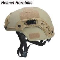 Helmet Hornbills NIJ Level IIIA MICH Bulletproof Kevlar Ballistic Helmet Tactical Helmet With Test Report