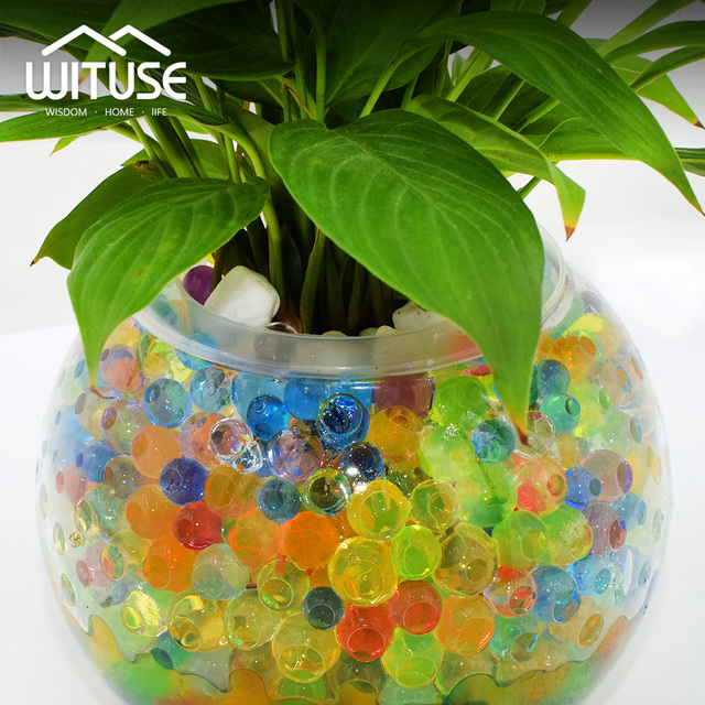 5000 pcs/lot 6mm Crystal Soil Water Beads Hydrogel Gel Polymer Seeds Flow Mud Grow Beads Orbiz Growing Bulbs Children Toy Ball