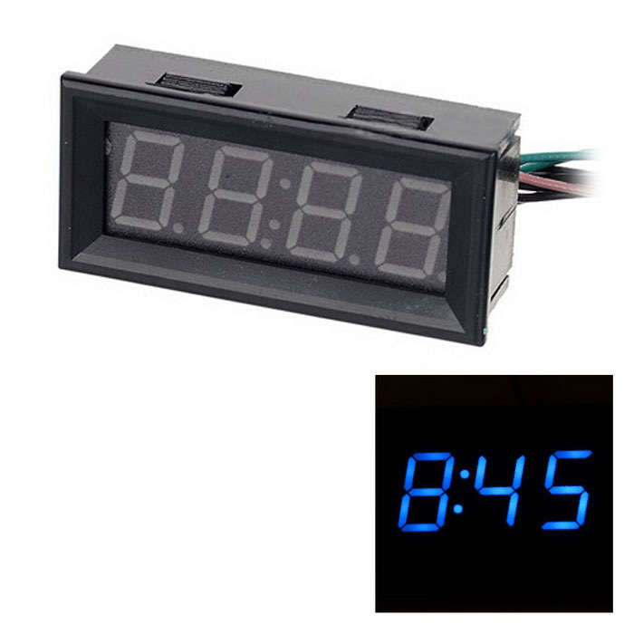 0.56 Blue LED Clock Voltage Temperature Digital Display Thermometer Voltmeter  E
