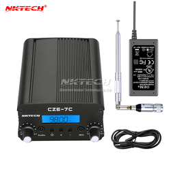 NKTECH CZE-7C PLL FM Transmitter Radio Broadcast Station 1W/7W Stereo Frequency 76-108Mhz Campus Amplifiers LCD Backlight Sets