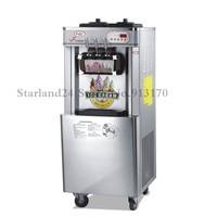 Stainless Steel Soft Serve Ice Cream Machine Frozen Yogurt Ice Cream Machine Three Heads 22 25liters