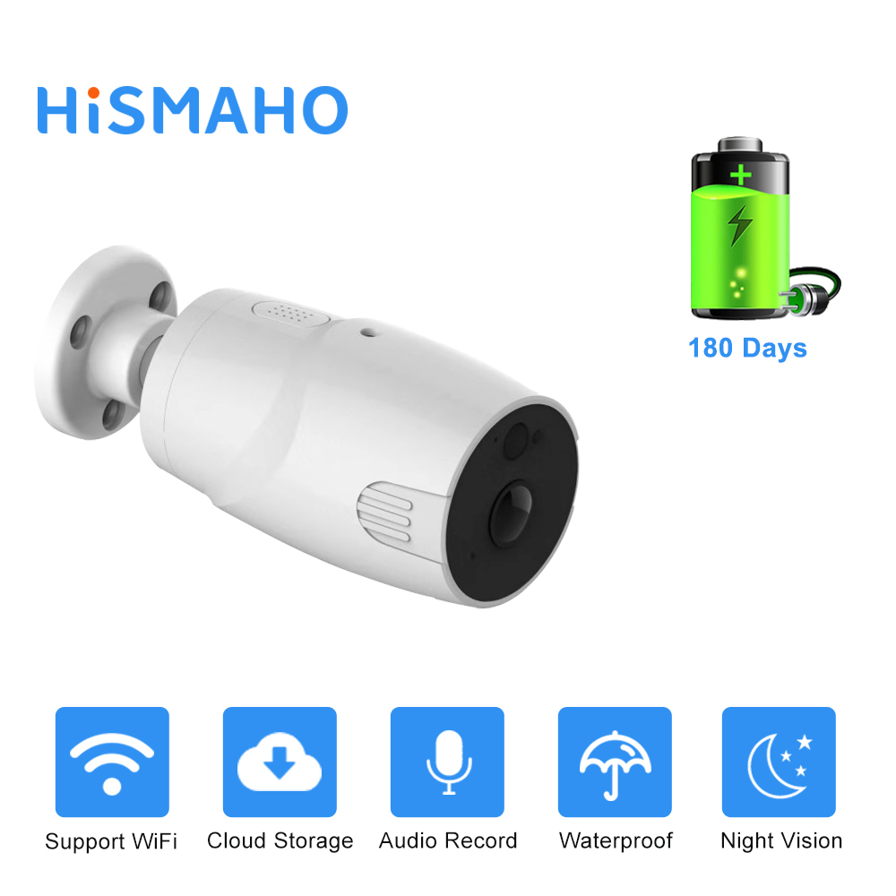 Rechargeable Battery IP Camera Wifi 1080P HD Outdoor Indoor Wireless Security Surveillance Camera Two Way Audio