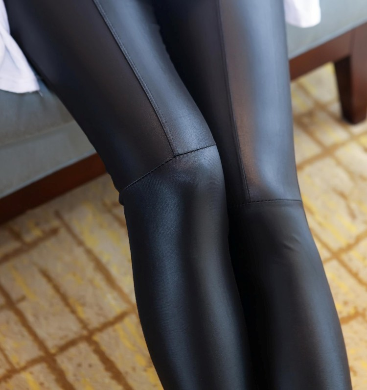 Free shipping!Fashion Sexy Shiny Metallic Black Stretchy Hot Sale   Leggings   women   leggings   faux leather sexy pants   leggings