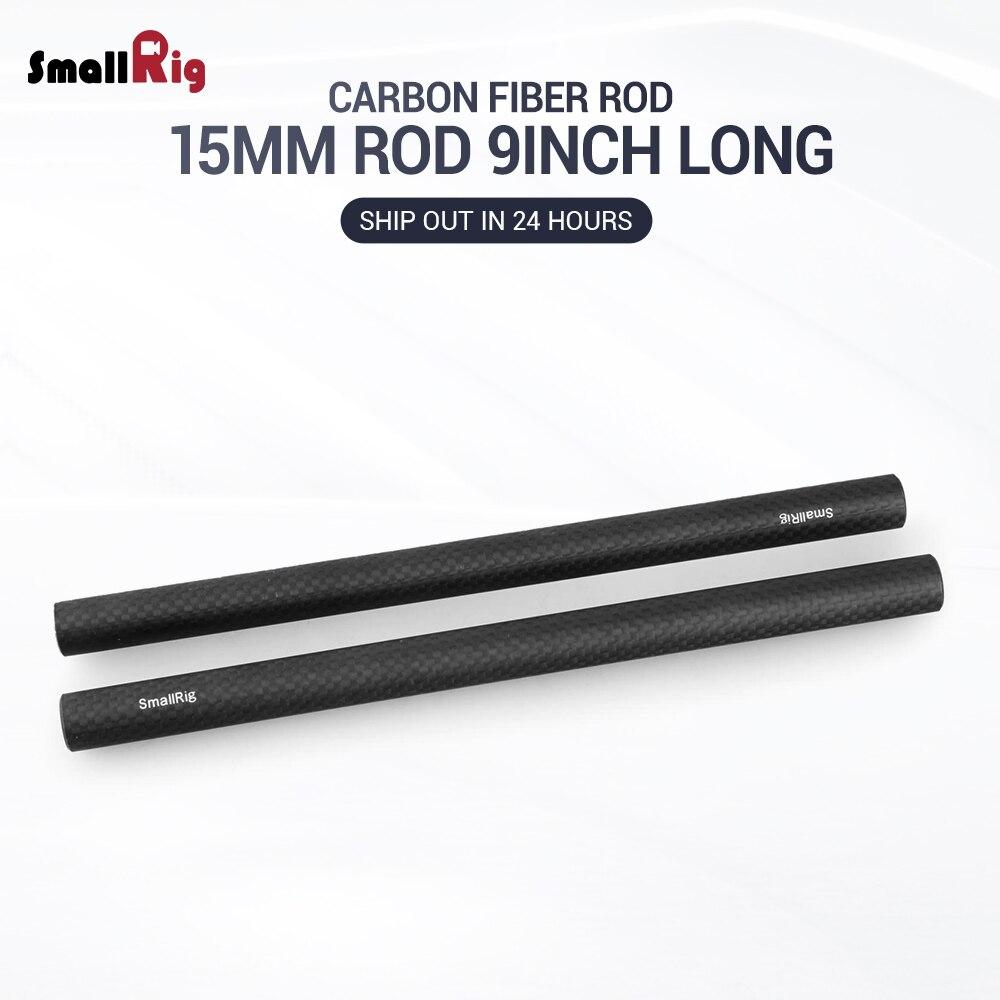 SmallRig 15mm Carbon Fiber Rod 22.5cm 9inch Long For Dslr Camera Rig  (2pcs) - 1690