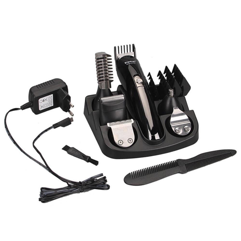 Professionnel électrique hommes femmes tout in1 Rechargeable tondeuse à cheveux étanche barbe nez oreille rasoir cheveux tondeuse outils Kits