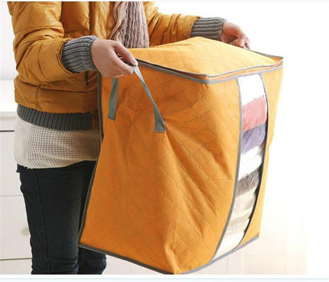 Plus Large Quilts Multi Color Bamboo Charcoal Storage Bag Clothing  Organizer Clothes Storage Case Quilt