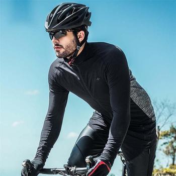 Santic Autumn Winter Cycling Jacket Coat Bike Clothing Men Long Sleeve Thermal Fleece Windproof Bicycle Jacket