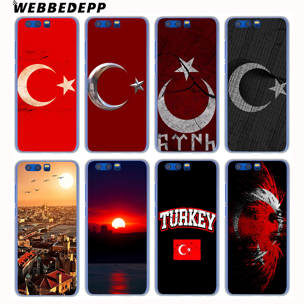 WEBBEDEPP Typography Flag of Turkey Antalya Hard Case for Huawei Honor 10 9 8 Lite 7X 6A 6C Y5 2018 Y6 II Y7 2017