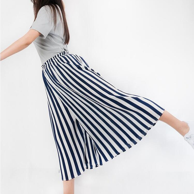 lange gestreepte rok