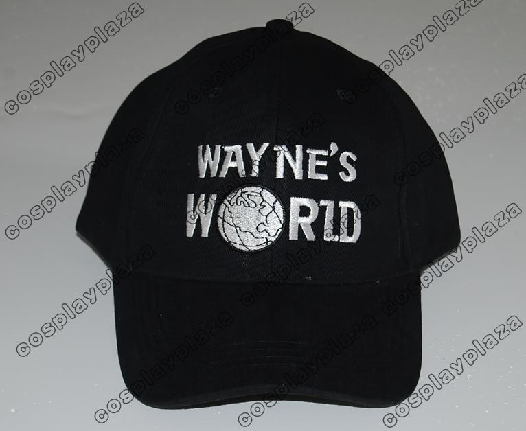 d8756d69 Black Wayne's World Hat Cosplay Waynes World Baseball Caps Earth Hats  Embroidered Trucker Dad Hat Unisex Cap Adjustable-in Baseball Caps from  Apparel ...