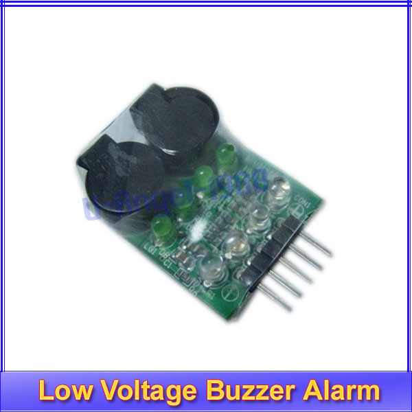 5pcs/lot BB Low Voltage Alarm Lipo Battery Low Voltage Buzzer Alarm 7.4V 11.1V 14.8V green+ Register free shipping