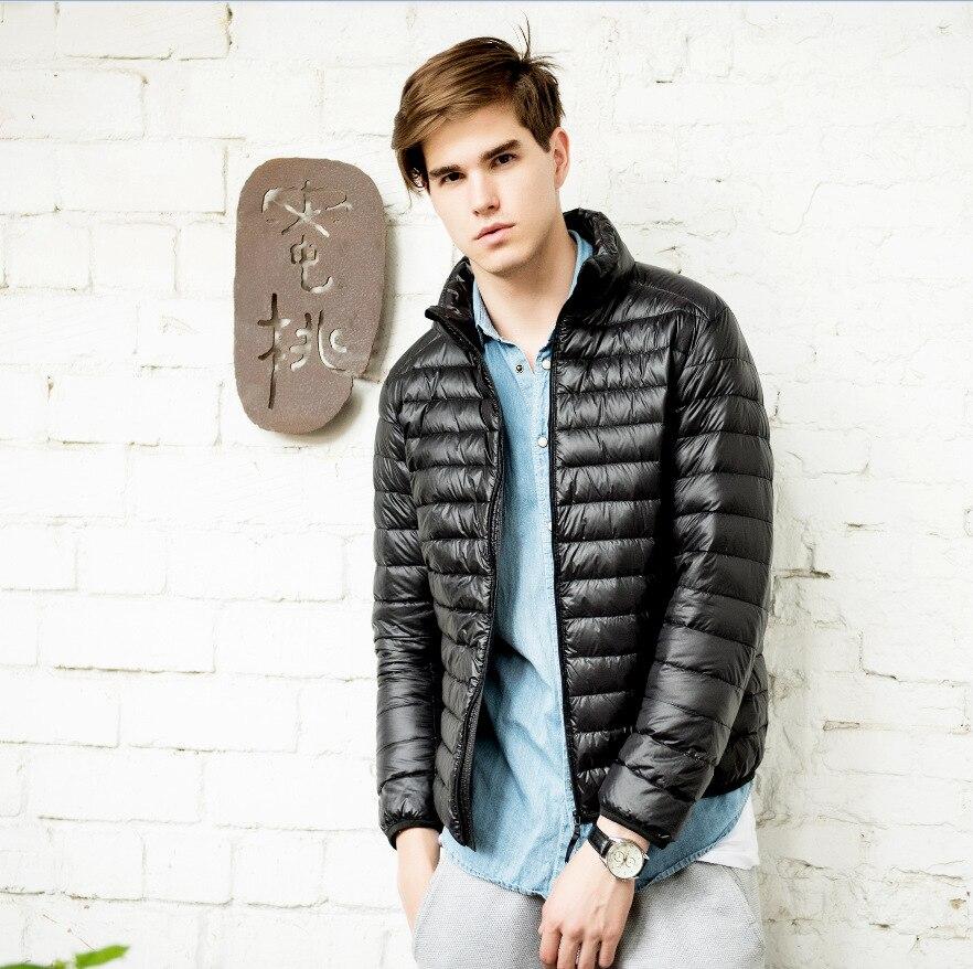 2016 Yeni Kış Ceket Yaka Erkekler Şık Ceket Erkekler Aşağı Ceket Erkekler Kış Ördek Aşağı Ceket Erkekler Marka