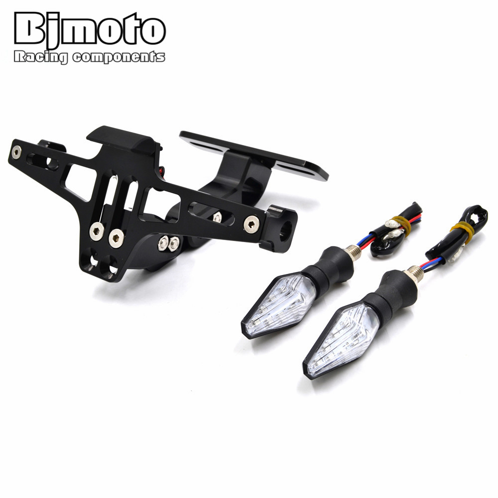 BJMOTO Universal Motorcycle CNC License Plate Frame Licence Holder Motor Number Plate Holder for Yamaha Kawasaki Aprilia motorcycle cnc aluminum license plate bracket licence plate holder frame number plate for suzuki gsxr 600 750 gsx r 600 2006 16
