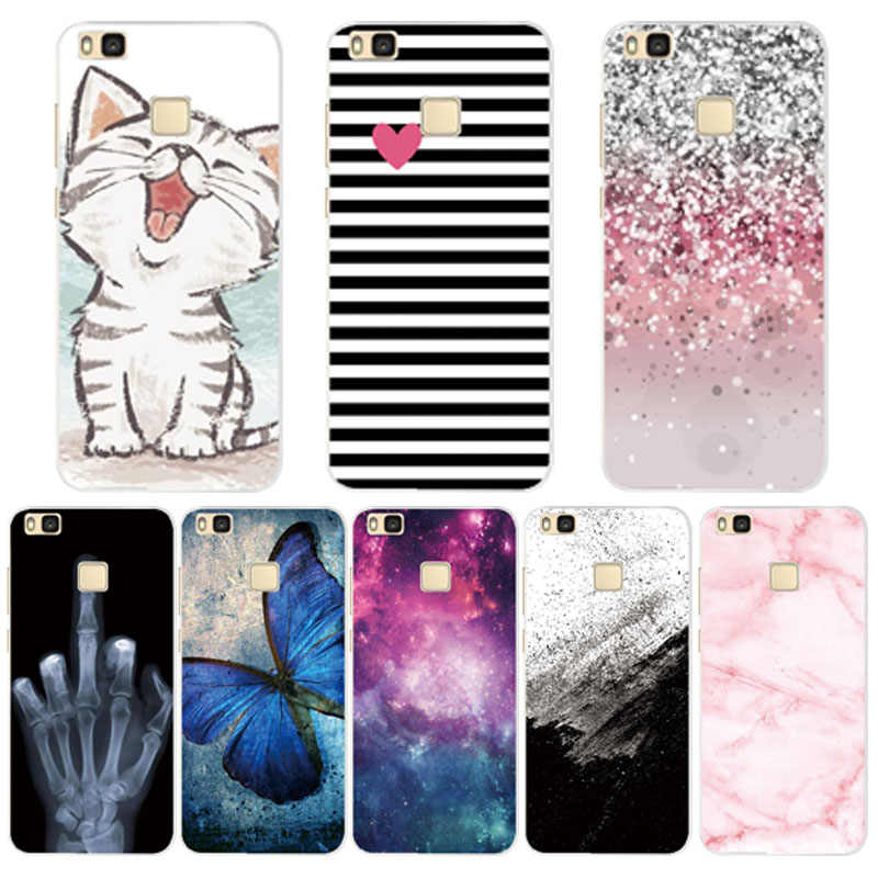 For Cover Huawei P9 Lite Case Cute Animal Black Silicone Soft TPU for Funda Huawei P9 Lite Case 2016 P 9 P9Lite Phone Back Cases