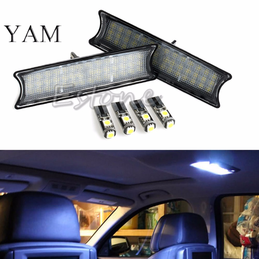 YAM 6pcs SMD LED Interior Dome Overhead Reading Light Lamp Kit For BMW E53 X5 cawanerl car canbus led package kit 2835 smd white interior dome map cargo license plate light for audi tt tts 8j 2007 2012