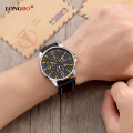 LONGBO Brand Luxury Casual Sport Watch Men Genuine Leather / Alloy Ultra Thin Case Fashion Male Watches Quartz-Watch 80220