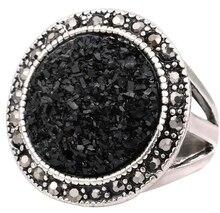 Антикварное кольцо Black Broken Stone Accessories