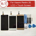 For Xiaomi Redmi 3S LCD Display + Touch Screen 100% New Digitizer Assembly Replacement For 5.0inch Xiaomi Redmi 3S Smart Phone
