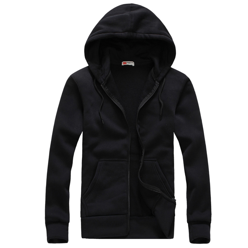 Plus Size S-XXL Mens Casual Hoodies Sweatshirt Fashion Solid Sweatshirt Men Hoddies Zipper Coat Men Hoody Jacket ...