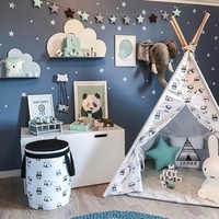 Wall Sticker For Kids Room White Stars Baby Nursery Bedroom Wall Stickers Bedroom Children Wall Decals Art Home Decoration