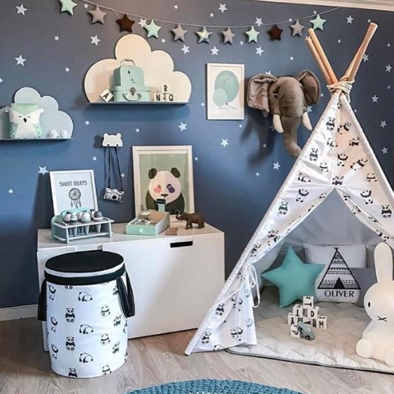 Wall Sticker For Kids Room White Stars