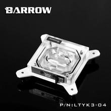 Barrow RGB 115X transparent acryl CPU kühler 0,4 MM microcutting micro wasserstraße LTYK3-04