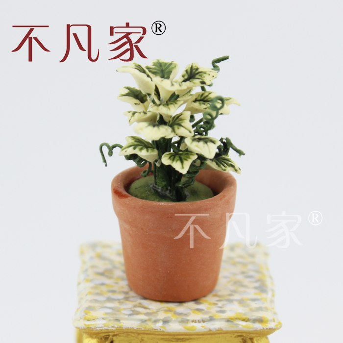 1//12 Scale Dolls house decorate Green tree Pot model