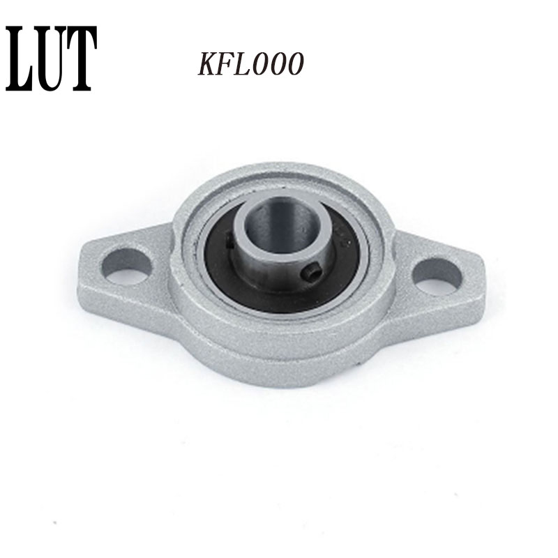10 PCS High quality KF000 KFL000 10mm Aluminium Alloy Mounted Shaft Support Flange Pillow Block Bearing Free Shipping
