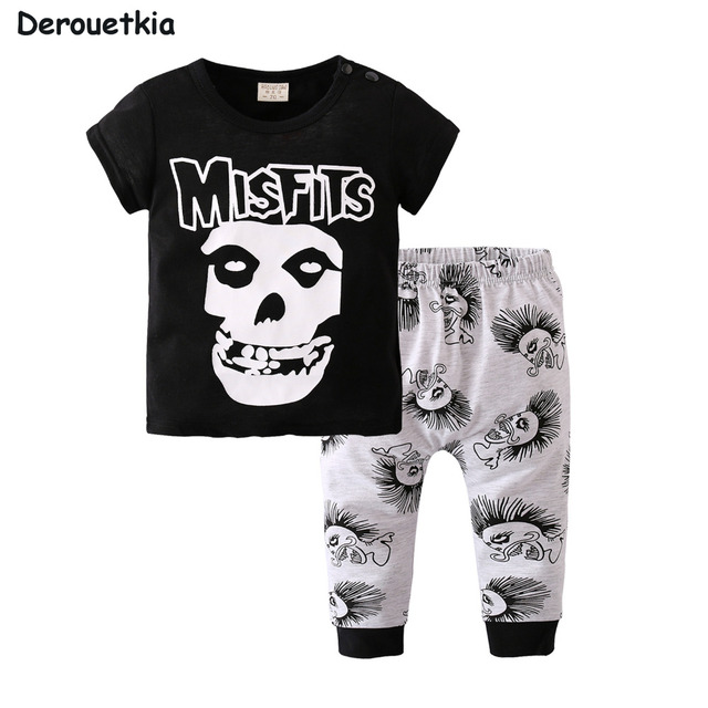 36da70ef6dca Summer fashion Baby Boy Clothing Sets Newborn Misfits Prints Short ...
