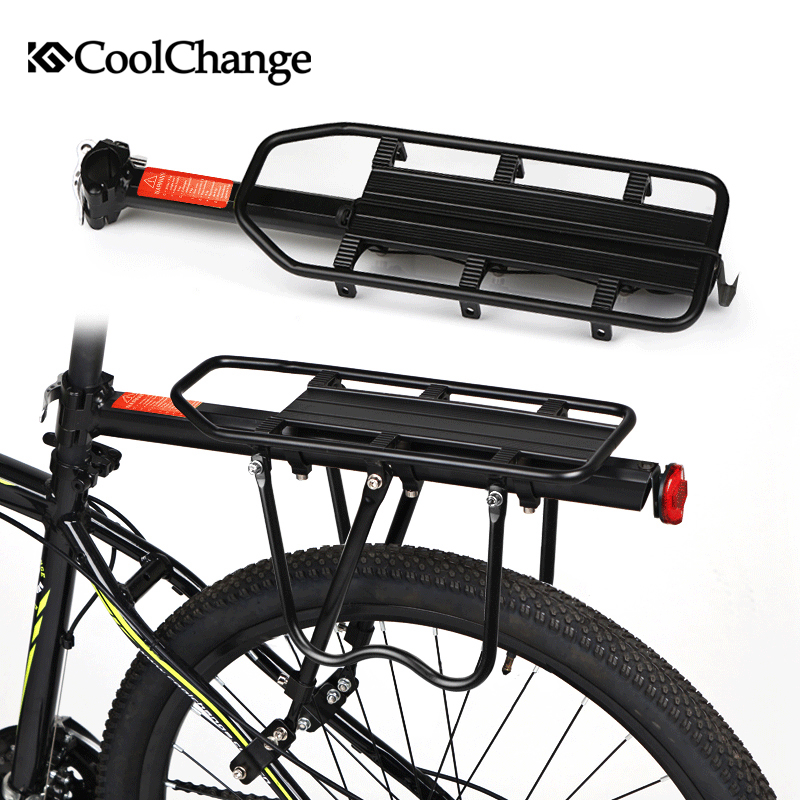 CoolChange Bicycle Accessories Mountain Bike Carrier Cargo Rear Rack Shelf Bicycle Luggage Rack Can Load multi function aluminum car frame rear cycling bike bicycle rack holder bicyles mount carrier for car