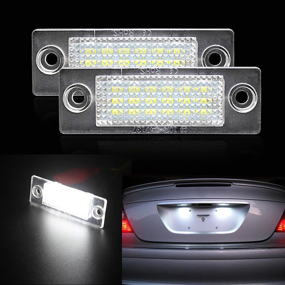 Vehemo Car Vehicle 18 Led Number License Plate Light Lamp For Vw Volkswagen Touran Exterior Control Wiring System 2pcs Passat