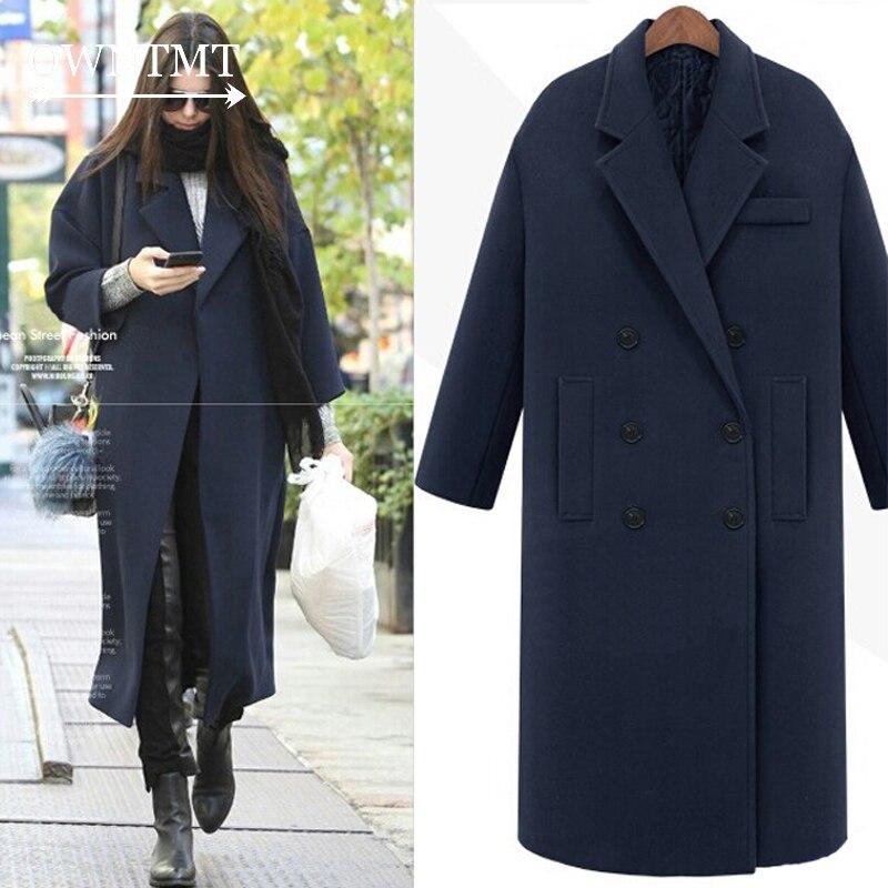 Detalle Comentarios Preguntas sobre Moda Otoño Invierno de las mujeres de  gran tamaño de abrigo de cachemir imitado prendas de vestir exteriores de  lana ... c20acb23ec74