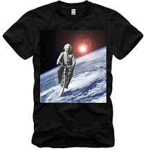 Retro 100% Cotton Print Shirt Tee T-shirt Albert Einstein Space Ride E=mc2 Physics Nobel Prize Black S/m/l/xl
