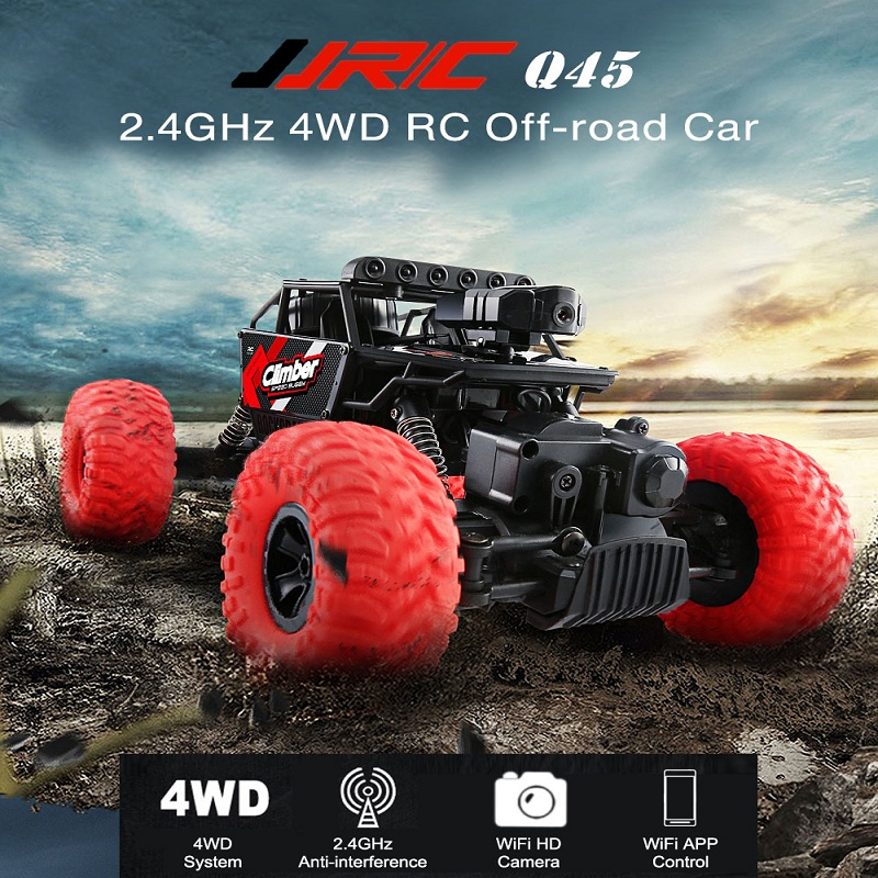 JJRC Q45 RC Racing Car RC Off Road 2.4G 4WDCar Mini WiFi RC Car with Camera Support IOS phone Android Realtime Transmission new arrival rc tank happy cow 777 325 wifi rc car with 30w pixels camera support ios phone or android