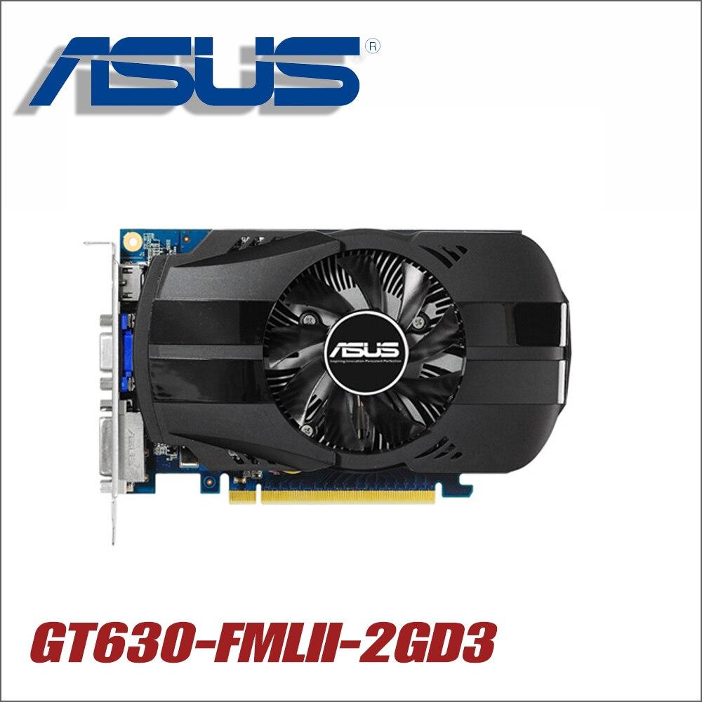 used ASUS Video Card Original GT630 2GB 128Bit GDDR3 Graphics Cards for nVIDIA VGA Cards Geforce GT 630 Hdmi Dvi