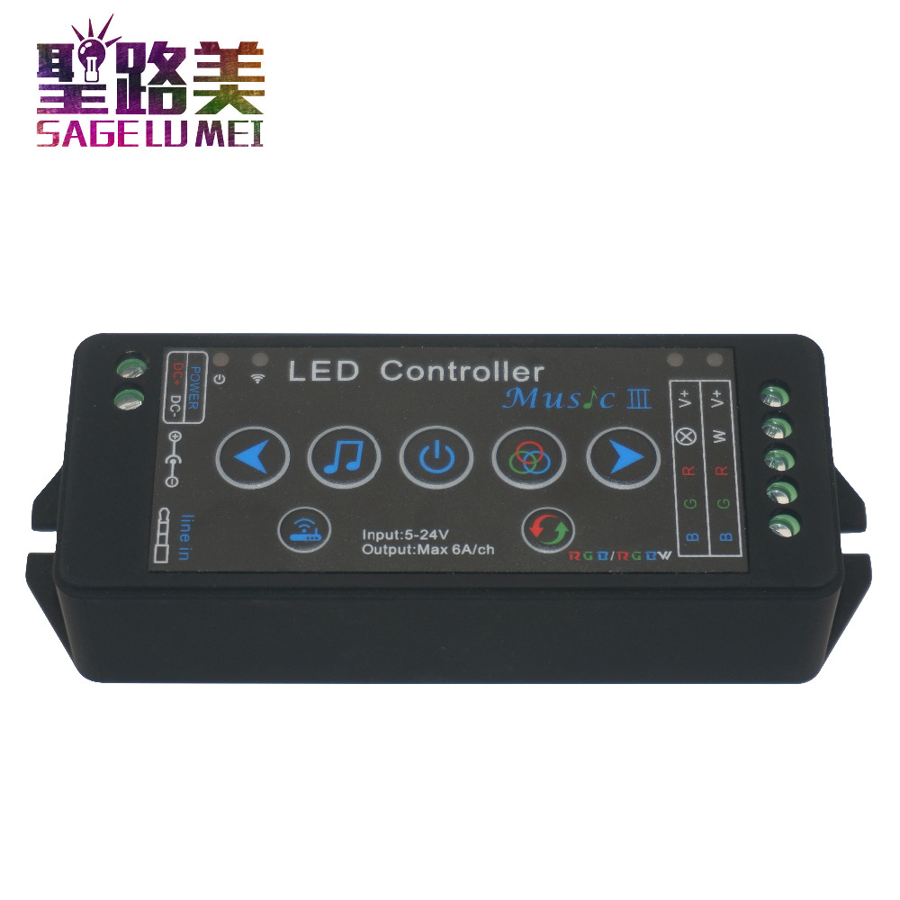 DC5V - 24V 12V music 3 led controller mobile phone APP wifi controller Sensitivity Audio for SMD 5050 RGB RGBW led strip light tsleen dc 5v 12v 24v mini wifi bluetooth led rgb rgbw controller by smartphone app control for smd 5050 3528 rgb led strip light