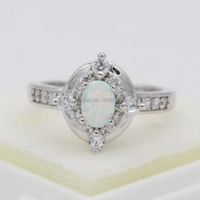 Amazing Wholesale Retail Opal Jewelry White Fire Opal Crystal 925 Sterling Silver Ring Size 6 7