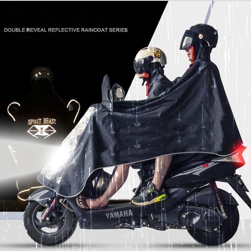 Дух зверя мотоциклетные плащ дождливый день Motorbiker Ridng защитные двух человек Применение непроницаемой прочный плащи