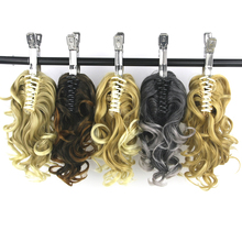 Soowee False Hair Claw Ponytail Synthetic Hair Blonde My Little Pony Tail Fairy Tail Hair on Clips Hairpieces for Hair Extension
