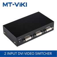 MT VIKI 2 ports DVI switcher 2 in 1 out computer monitor HD sharing device 1920*1440 with remote control power supply MT DV201